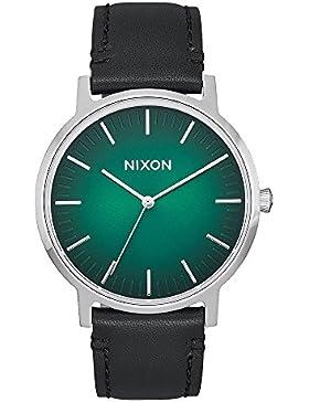 Nixon - Porter Leder 40mm Grün Ombre / Schwarz - Uhr Männer