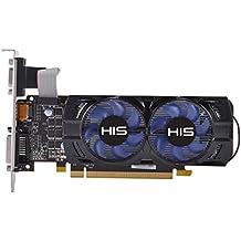 HIS R7 250 Twin Fan 2GB D5 LP AMD Radeon R7 250 2GB - Tarjeta gráfica (Activo, AMD, Radeon R7 250, GDDR5, PCI Express 3.0, 4096 x 2160 Pixeles)