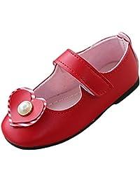 Topgrowth Scarpe Bambina Ballerine Ragazza Amore Perle Scarpe di Pelle  Casual Mary Jane Scarpe Basse Principessa 24cb01c9748