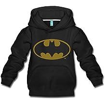 Spreadshirt DC Comics Batman Logo Gold Kinder Premium Hoodie c9b9a56e1d