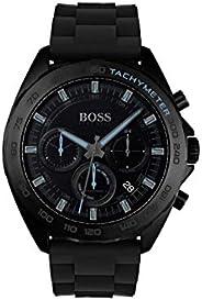 Hugo Boss Mens Quartz Watch, Chronograph Display And Silicone Strap 1513666
