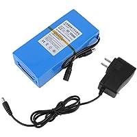 20000mAh 10.8V-12.6V DC batería Recargable de polímero de Iones de Litio con indicador de Funcionamiento + Cargador de Corriente alterna EE.UU. Enchufe Azul