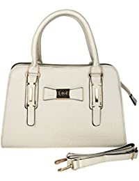 Prepoy Trendsetter Exclusive Imported Leather Ette Hand Bag For Womens Hand Bag (White)