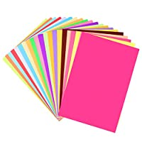 SUPVOX 100PCS A4 Size Origami Craft Paper Colored Art Paper DIY Sheet Decals for Kids Children Kindergarten