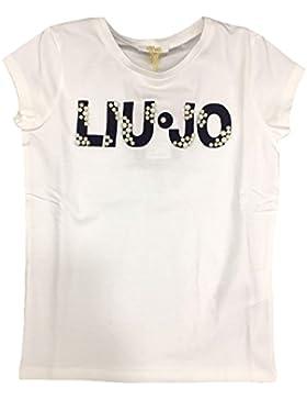 Liu Jo Bambina G18017 J5003 White Blue T-Shirt Primavera/Estate