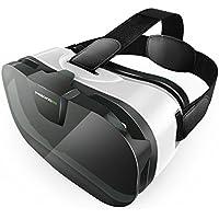 Casque VR, Pasonomi VR Box headset 3D VR Casque de réalité virtuelle pour iPhone 5 6 6S plus, iPhone 7, Samsung Galaxy S7 S6 Edge S5, et Smartphones de 4.0 à 6.0 pouces idéal pour les films et les jeux en 3D