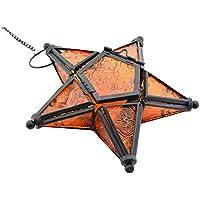 Homeofying - Portavelas de Cristal Colorido para Colgar, 5 Puntas, diseño de Estrella
