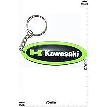 Llaveros - Keychains - K KAWASAKI - long - Motocross BIKE - green - Motocross - Motorcycle - Motorbike - Key Ring - Kautschuk Rrubber Keyring - perfect also bags, wallets or briefcase - Give away