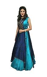 Omstar Fashion Lehenga Choli (OMAL_Blue_Free Size )