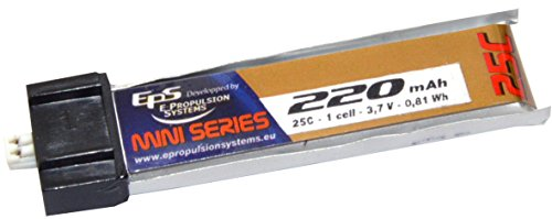 E PROPULSION SYSTEMS EPS - Batterie Lipo 3,7V (1S) 220 mAh 25C prise EFLITE MCX