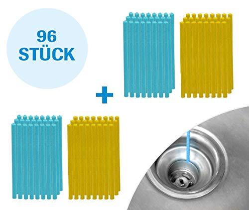 Mediashop Sani Sticks 96 Stück Abfluss Duft Zitrone Duftneutral | Drain Cleaner Enzymreiniger Abflussreiniger | Abflussrohr rein clean Rohrreiniger | Das Original aus dem TV -
