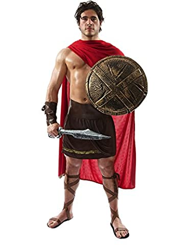 300 Costume - Déguisement Adulte Costume Homme Guerrier Spartiate Extra