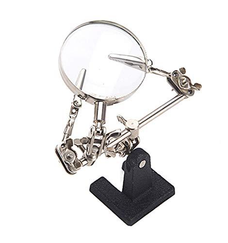 DUANJY Desktop-Lupe elektronische Schweißen Reparatur Halterung Werkbank Clip Lupe (Gusseisen Wartung)