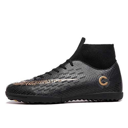 YAYADI Erwachsene Männer Outdoor Fussball Stollen Schuhe High Top Fußballschuhe Ausbildung Sport Sneaker Schuhe Plus,39