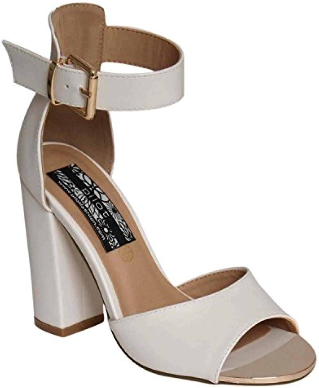 PILOT® Goldplatte Blockabsatz Sandalen 2018 Letztes Modell  Mode Schuhe Billig Online-Verkauf