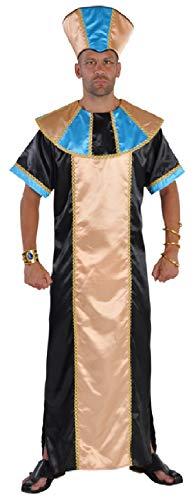 narrenkiste M212234-M-A schwarz-Gold-tükis Herren Pharaonen König Ägypter Kostüm ()