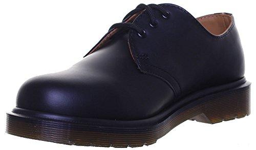 Dr Martens Chaussures 3 Œillet Gibson 1461 Pw Chaussures de travail unisexe pour bureau Noir