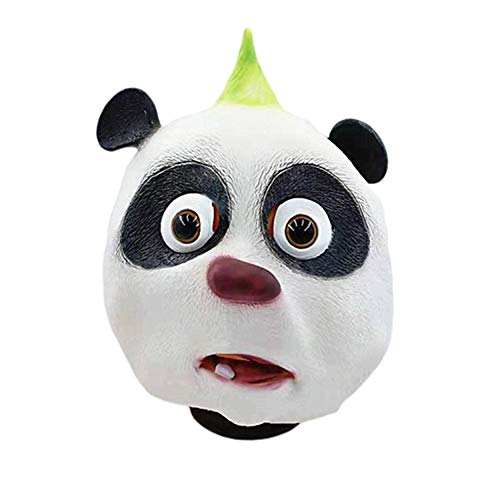 Kostüm Deluxe Panda Kind - JZTRADING Kopfmaske Für Kinder Panda Animal Vollkopfmaske Halloween Latex Für Party Horror Cosplay-Dekor Kopfmaske Für Kostüm
