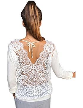 FAMILIZO Camisetas Mujer Fiesta Elegante Camisetas Mujer Verano Tops Mujer Primavera Camisetas Mujer Largas Camisetas...