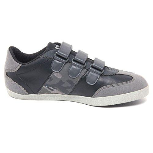 B2952 sneaker bimbo LE COQ SPORTIF scarpa a strappi nero/grigio shoe kid Grigio/Nero