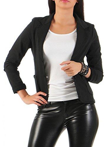 Damen Blazer Vintage Style, mit Taschen ( 545 ), Farbe:Schwarz, Blazer 1:44 / XXL