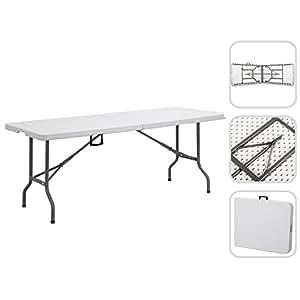 Tavolo pieghevole da campeggio buffet catering 240 cm tavolo da giardino pieghevole con - Tavolo pieghevole con maniglia ...