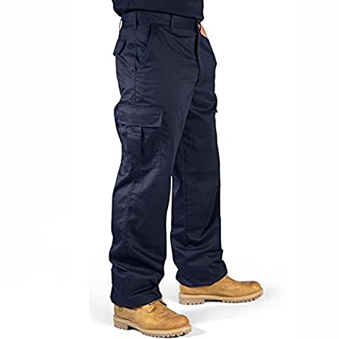 Supertouch 18JNB 48-Inch Waist 245 gsm Polyester/Cotton Regular Leg Combat Trousers - Navy Blue