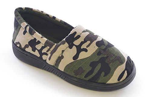 Slumberzzz Hausschuhe für, Jungen Hausschuhe, Camouflage-Motiv Grün