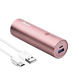BONAI Caricabatterie Portatile, 5800mAh Powerbank Caricatore Carica Batterie Portatili Cellulare Batteria Ultracompatta per Samsung, Huawei, Xiaomi, Android -Rosso Gold (Micro Cable Included) 6 spesavip