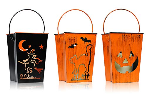 Lámpara de Halloween, impresiones Inicio, Todos los Santos de la lámpara de Halloween llevó las luces de linterna, para la decoración y los regalos de día de fiesta especial, con una iluminación tecnología de giro del brillo tornados llevado, con pilas, velas sin llama en Bat, 4x10 pulgadas
