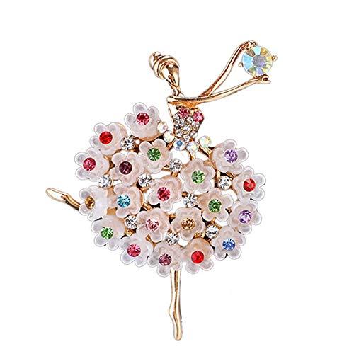 RJNRMX Mode high-end Ballett Damen Diamant edelstein seidenschal Schnalle brosche dual-use einfache Geschlecht pin brosche