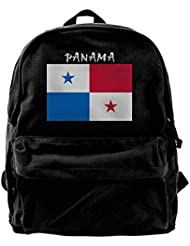 sd4r5y3hg Flag of Panama Canvas Backpack for Men Women Lightweight Travel Backpack College Student Bookbags Laptop