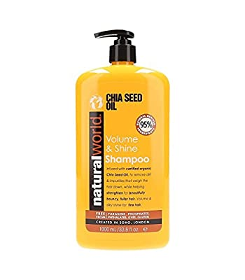 Natural World Chia Seed Oil Volume & Shine Shampoo 1000ml by NATURAL WORLD