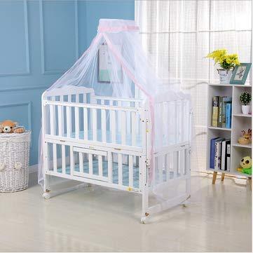 RanDal Kinder Baby Betthimmel Bettdecke Moskitonetz Vorhang Kleinkind Kinderbett Bettwäsche Zelt - Pink