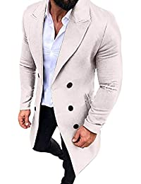 CLOOM Giacca Invernale Uomo Cappotto New Trench Outwear Lunghi Cappotto  Smart Overcoat Button Giacche Jacket Top f30f0cbcb69