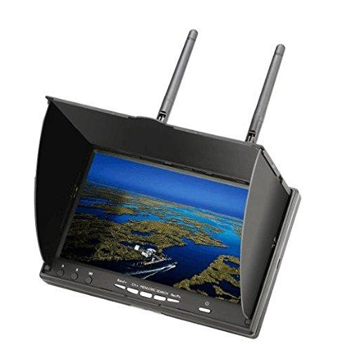 Preisvergleich Produktbild Eachine LCD5802D FPV Monitor mit DVR Dual Empfänge 5.8G 40CH 7 Inch eingebaute Batterie