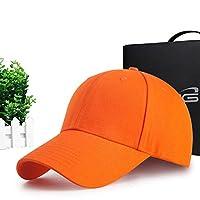 CCZ baseball cap Men big head sun hats pure cotton golf hat for adults baseball cap men@M orange