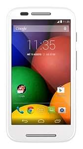 Motorola Moto E Smartphone, Display 4.3 pollici qHD, Processore Qualcomm Dual-Core 1.2GHz, Memoria 4GB, 1GB RAM, Fotocamera 5MP, Android 4.4.2 KitKat, Bluetooth, WiFi, Bianco [Spagna]