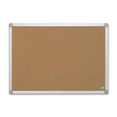 MasterVision Earth Cork Board, 24 x 36, Aluminum Frame by Bi-silque (Board Cork Mastervision)