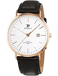 Time Piece Herren-Armbanduhr Classic Analog Quarz Leder TPGS-32403-41L