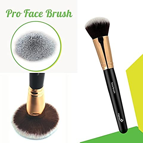 Expert Pro Face Brush for Flawless Application - a Makeup Brush of Dome Shaped Synthetic Bristles for Sculpting the Cheekbones, Forehead and Jawline; Works with Creams, Powders and Minerals; Professional - Multi Purpose High Quality Essential Accessory for Beautiful Flawless Finish Look