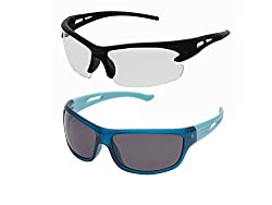 Vast UV Protected Sport Unisex Sunglasses (NT-SWHJ+Blue grey|60|Yellow)