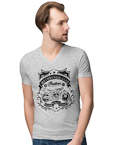 Bike Club Loudest and Fastest Cafe Style Racer Herren V-Neck T-Shirt M -