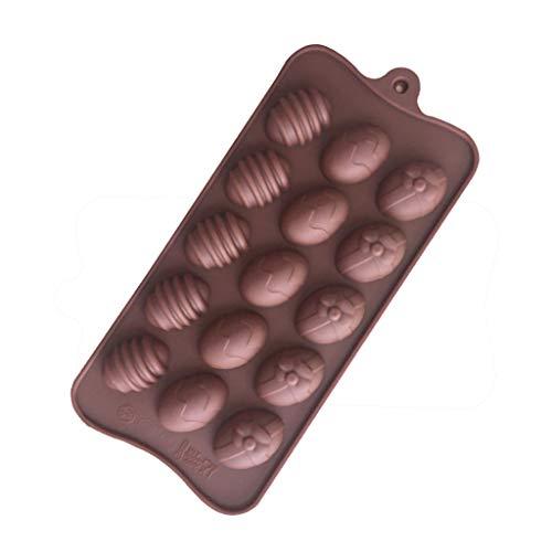 Backformen Set Formen Silikon Ostern Ostereier Deko-Eier Osterdeko WQIANGHZI Geruchsneutral Antihaft Waschbare Hitzebeständig Süßigkeiten 6-Cavity (A)