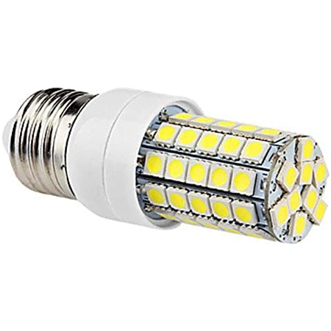 Dngy* E27 6W 59x5050SMD 540LM 6000-6500K Bianco Naturale LED lampadina