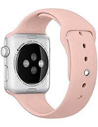 Pour Apple Watch Band, Fulltime® en Silicone Souple un Replacement de Sport Band pour Tous les Modèles pour Apple Watch 38mm (Apple Watch 38mm, Pink)