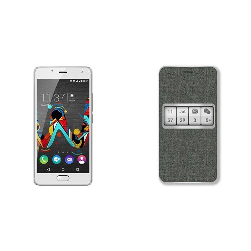 Wiko UFEEL Smartphone da 16GB, Dual SIM, Grigio