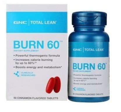 GNC Total Lean Burn 60 Zimt - Verbrennen Sie überschüssiges Fett! Cellulite entfernen! -