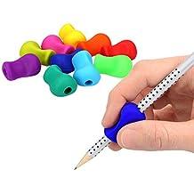 10x Silikon Schreibhilfe Stiftehalter für Bleistift Stift Griff Rechtshänder