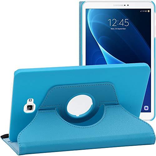 ebestStar - Compatible Coque Samsung Galaxy Tab A6 A 10.1 (2018, 2016) T580 T585 Housse Protection Etui PU Cuir Support Rotatif 360, Bleu [Appareil: 254.2 x 155.3 x 8.2mm, 10.1'']